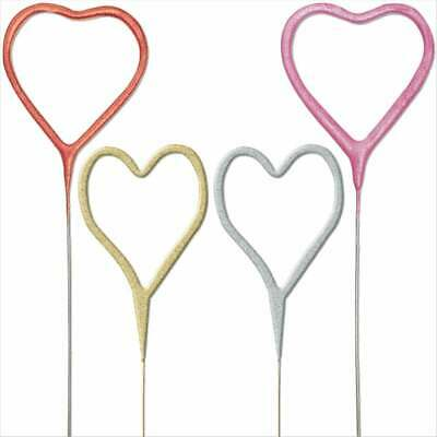 £3.45 • Buy Heart Cake Topper, Sparkler Candle, Sparkling Candles, Cake Fountain, Cake Spark