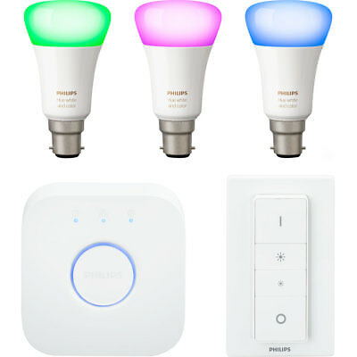 AU459.41 • Buy Philips Hue White And Colour Ambiance B22 Starter - A+ Rated - Smart Light Start