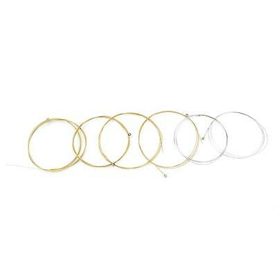 $ CDN2.44 • Buy 6Pcs/set Steel Strings Replacement For Acoustic Guitar Silver & Gold QK
