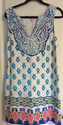$65 • Buy Lilly Pulitzer Harper Shift Resort White To The Sea Shift Dress Size Large