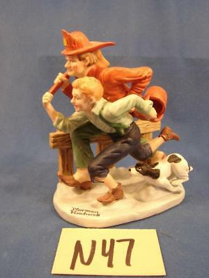 $ CDN26.29 • Buy N47 Vintage Norman Rockwell Danbury Mint Porcelain Figurines The Alarm