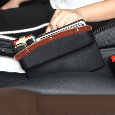 $ CDN18.85 • Buy Leather Car Seat Side Pocket Organizer Catcher Gap Filler Storage Box Auto Parts