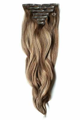 $342.40 • Buy Luxurious 24  Clip In Human Remy Hair Extensions - Full Head 280g - 20+ Colours