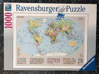 $14.99 • Buy Ravensburger Puzzle World Map Welt Earth Continent Travel Colorful Country Globe