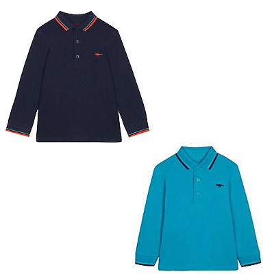 NEW Boys Long Sleeve Polo Top Shirt Bluezoo Dinosaur 18-24m 2 3 4 5 6 Years Teal • 4.99£