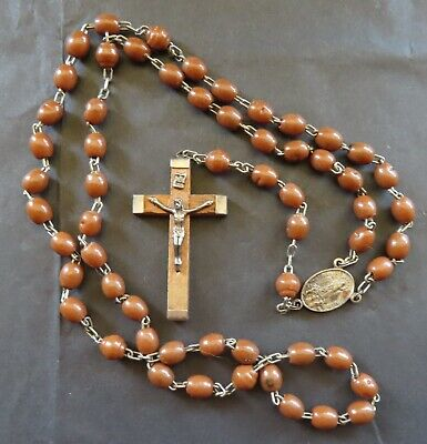 Fatima Wooden Catholic Rosary Beads Our Lady Of Fatima • 6£