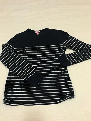 $13.33 • Buy Lilly Pulitzer Long Sleeve Top Navy With White Horizontal Stripe Size Large
