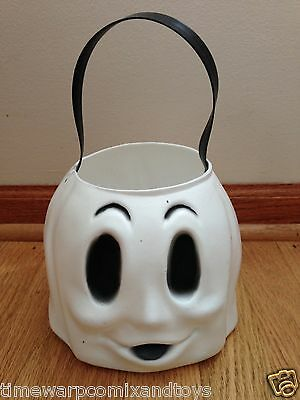 $ CDN13.34 • Buy Vintage Halloween Empire Blow Mold White Ghost Bucket Pail With Strap NICE!