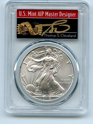 $34.56 • Buy 2019 $1 American Silver Eagle 1oz PCGS MS70 FS 1 Of 1000 Thomas Cleveland Arrows