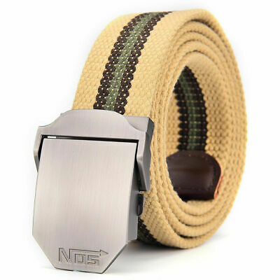 £6.99 • Buy Mens Womens Ladies Canvas Belts Military Belt Automatic Buckle UK Stock Gift Bag