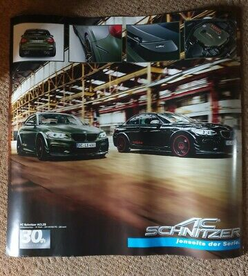 $1.25 • Buy BMW AC Schnitzer 30th Anniversary Double Sided Poster I8 & ACL2S