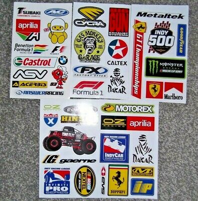 2 X VALENTINO ROSSI Sheets - Waterproof Stickers  Ideal For Helmets Etc • 2.50£