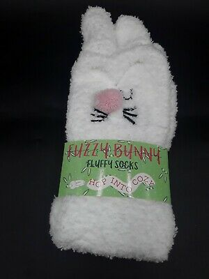 $4.49 • Buy  Cozy Soft Fuzzy Bunny Fluffy Socks One Size Fits Most