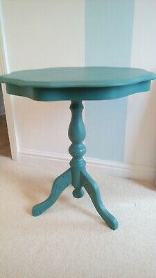 Painted Occasional/coffe Table With Decorated Tripod Legs Decorative Edge To Top • 27£
