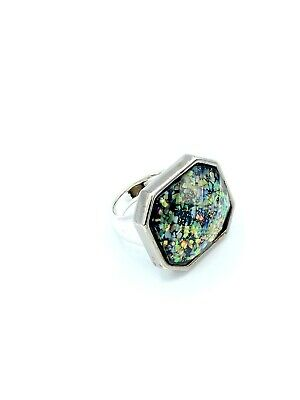 $ CDN27.16 • Buy LIA SOPHIA Black Confetti Sparkle Cocktail Ring Sz 8