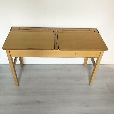 Vintage Kids Double Table School Desk • 38£