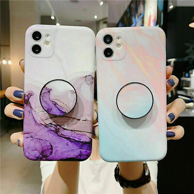 AU11.99 • Buy Marble Case With Pop Up Holder Socket For IPhone 11 Pro Max 8 7 Plus XR XS Max