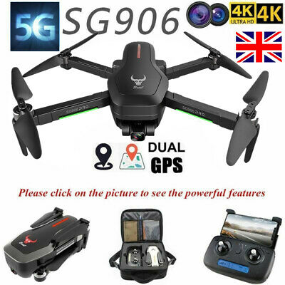 SG906 Pro GPS RC Drone 1.2km 4K HD Camera Wifi FPV Foldable Quadcopter +Suitcase • 137.99£