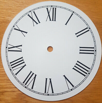 £8.45 • Buy NEW - 7 Inch Clock Dial Face - White - 177mm Roman Numerals - DL19