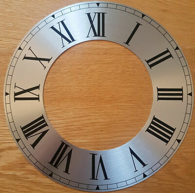 £6.95 • Buy 9.25 (9 1/4) Inch Chapter Ring Clock Zone Dial Face - Silver 235mm Roman Nu CR28