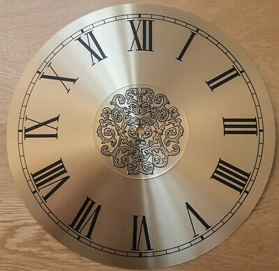 £12.95 • Buy NEW - 13.5 Inch Clock Dial Face - Gold / Brass Finish 340mm - Roman Num DL38