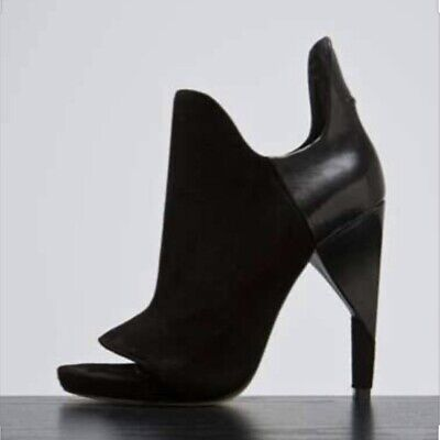 AU250 • Buy ALEXANDER WANG Devon Graphic Suede & Leather Ankle Boots - Sz 39 Great Condn