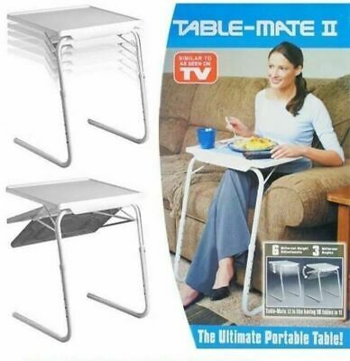 £16.99 • Buy Adjustable Folding Portable Table Mate Lap Tray Tv Dinner Desk Serving Tray