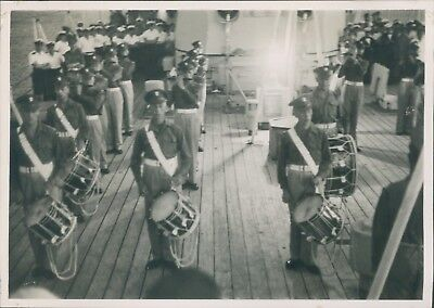 Photo Fleet Review 1953 Destroyer  HMS Agincourt Grenadier Guards Band On Board • 13.35£