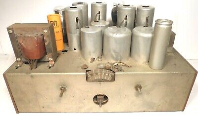$ CDN81.83 • Buy Vintage SILVERTONE 1320 CONSOLE RADIO Part:  Untested CHASSIS W/ All 8 TUBES