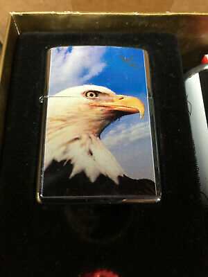 $24.99 • Buy 2003 Zippo Lighter Gift Set - Eagle, Fluid & Flints - Unsed In The Box