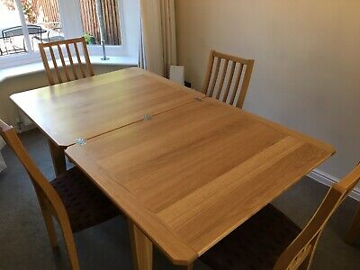 Ercol Askett Extending Dining Table With 4 Chairs Oak Excellent Condition • 500£