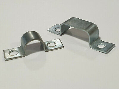 £4.56 • Buy Zinc Plated Mild Steel Full Saddle Clamps For 1 Or 2 Pipes / Hoses Din 72571