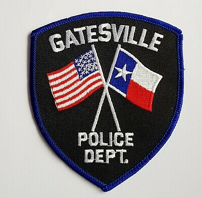 Obsolete Original Police Patch Badge USA Gatesville Texas America  • 5.99£