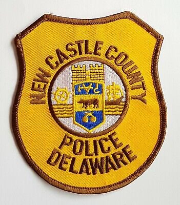 Obsolete Original Police Patch Badge USA New Castle County Delaware America  • 5.99£