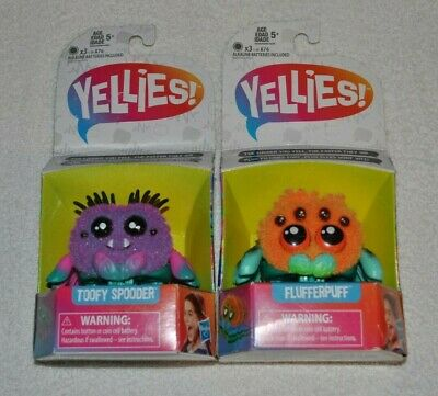$18.50 • Buy New Yellies Voice Activated Spider Flufferpuff & Toofy Spooder Lot Of 2