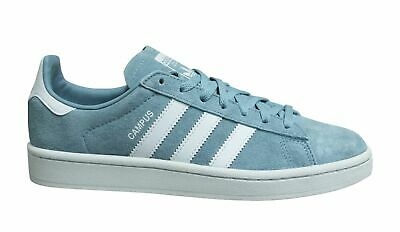 Adidas Originals Campus Ash Grey Leather Low Lace Up Womens Trainers CG6048 • 44.99£