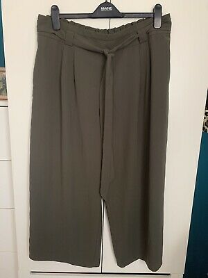 New Look Khaki Cropped Trousers Size 18 Worn Once • 3.99£