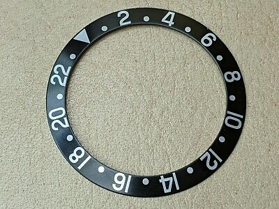 $ CDN1326.73 • Buy Vintage 70's Rolex GMT 1675/0 Thick Font All Black W/Silver Numbers Bezel Insert