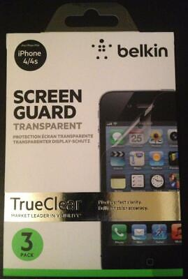 AU3 • Buy Belkin Screen Guard IPhone 4 (s) - 3 X Pellicule De Protection / Schutzfilm