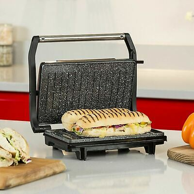 Tabletop Non-stick Panini Grill & Press Stainless Steel Toastie Sandwich Maker  • 29.50£