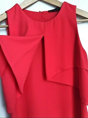 AU40 • Buy Zara Coral Red Sleeveless Top Size XS (Excellent Condition) Womens Clothing