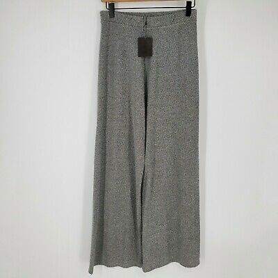$22.99 • Buy Zara Trafaluc Wide Leg Marled Gray Knit Pants Women's Size Large NWT