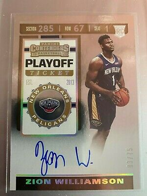 $2399.99 • Buy 2019-20 Contenders Playoff Ticket #108 Zion Williamson RC Rookie AUTO 3/75 RARE