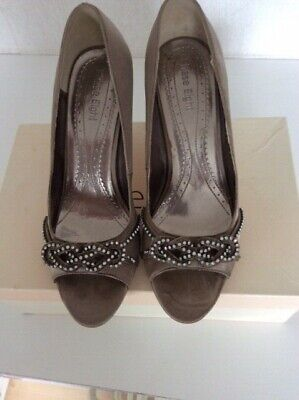 Phase Eight Ex Display New In Box Silver Shoes With Diamond Details Size 37 UK4 • 6£