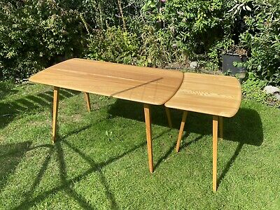 Ercol Plank Table With The Rare Table Extension. Mid Century. Extending • 675£