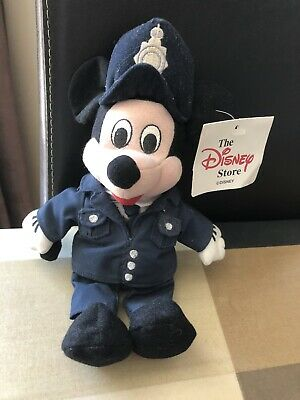 £9 • Buy Mickey Mouse Policeman Soft Toy Bean Bag Beanie Disney Store Tag Still Attached