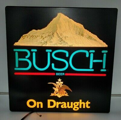 $ CDN131.81 • Buy Vintage 1986 Anheuser-Busch Busch Beer On Draught Lighted Sign