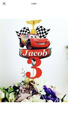 McQueen Personalised Cake Topper / Any Name And Age • 6.99£