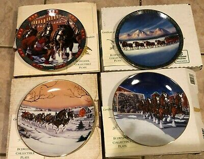 $ CDN105.51 • Buy Budweiser Collectible Plates With Certificate Of Authenticity, Set Of 4