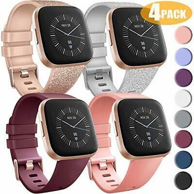 $ CDN18.58 • Buy 4Pack Bands For Fitbit Versa/Versa 2/Versa Lite/SE Silicone Patterned Wristbands